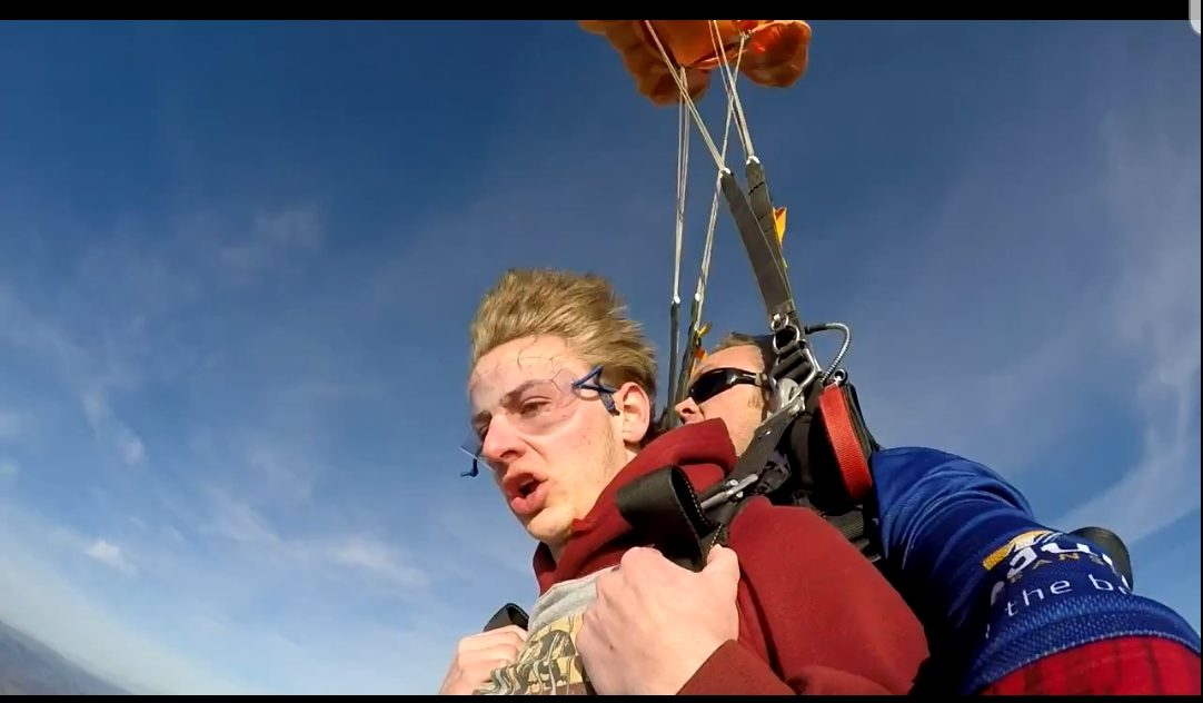 Scared Man Goes Skydiving for the first time
