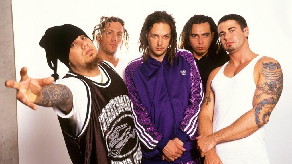 The band Korn in the 90s.
