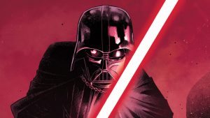 Darth Vader with red lightsaber, Lord of the Darkside